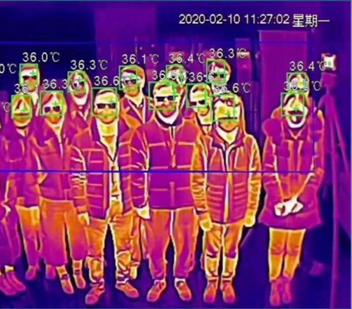 camera foule température purification de l'air pureaero