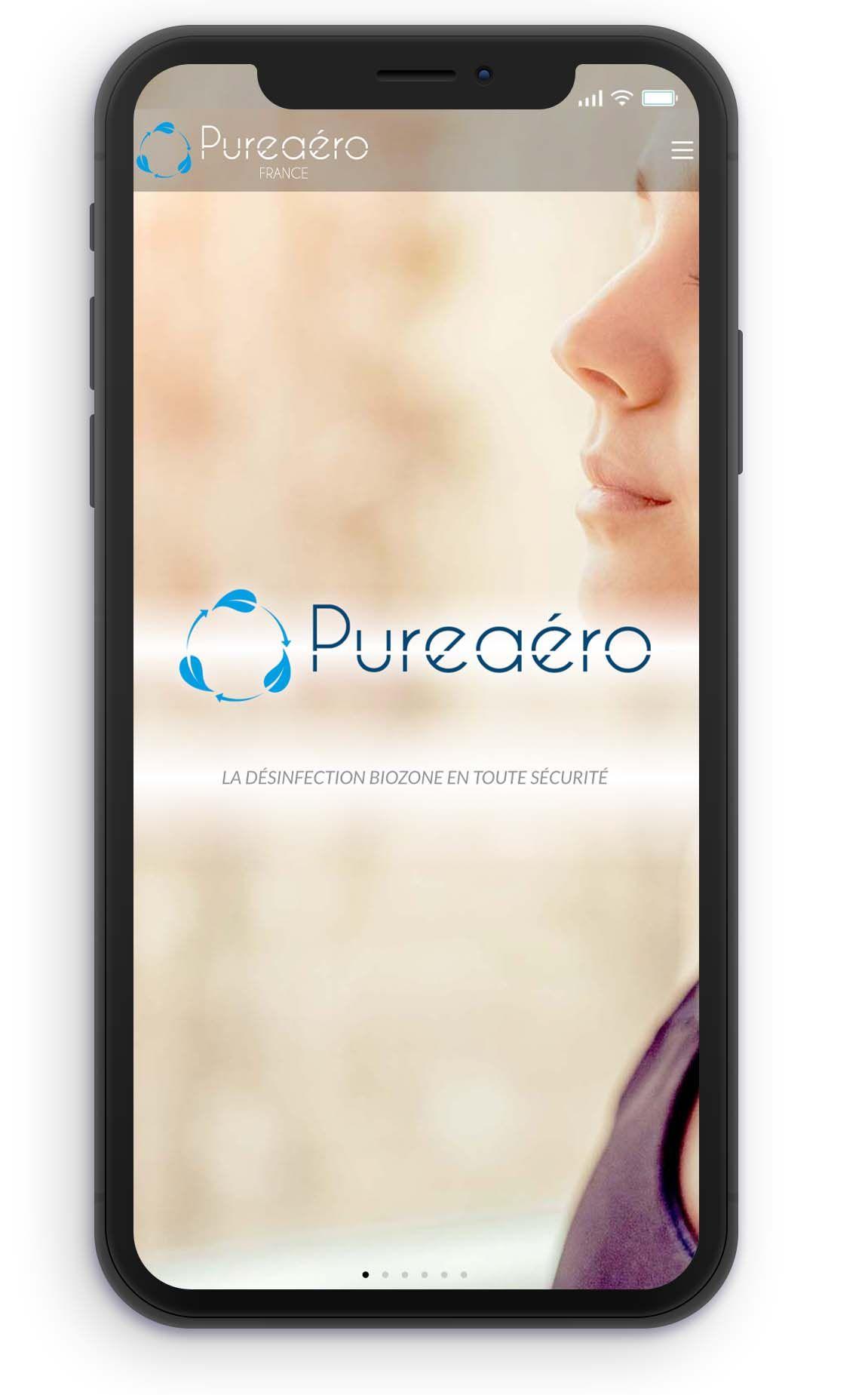 téléphone purification de l'air pureaero